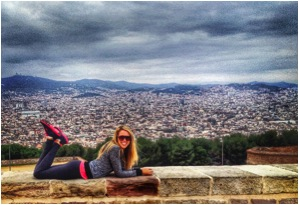 Truly feeling on top of world on Montjuic!
