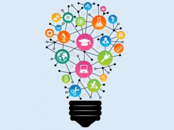 teacher development a lightbulb map of different ideas