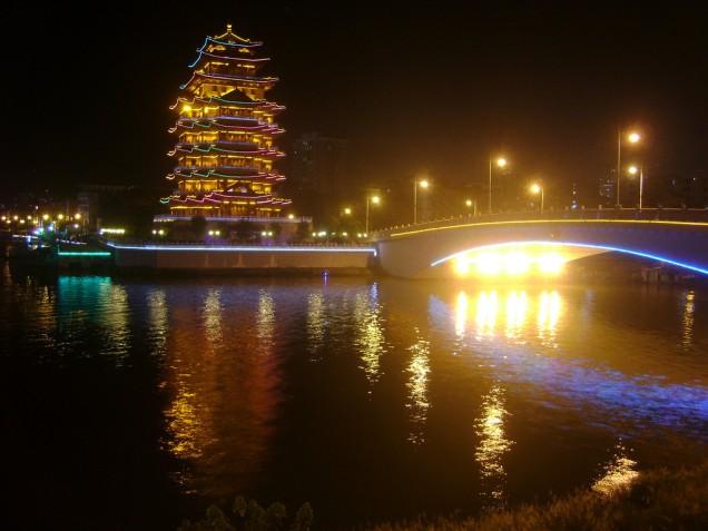 Huizhou at night