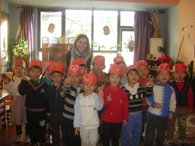 My kindergarten class in Beijing on Valentine's Day