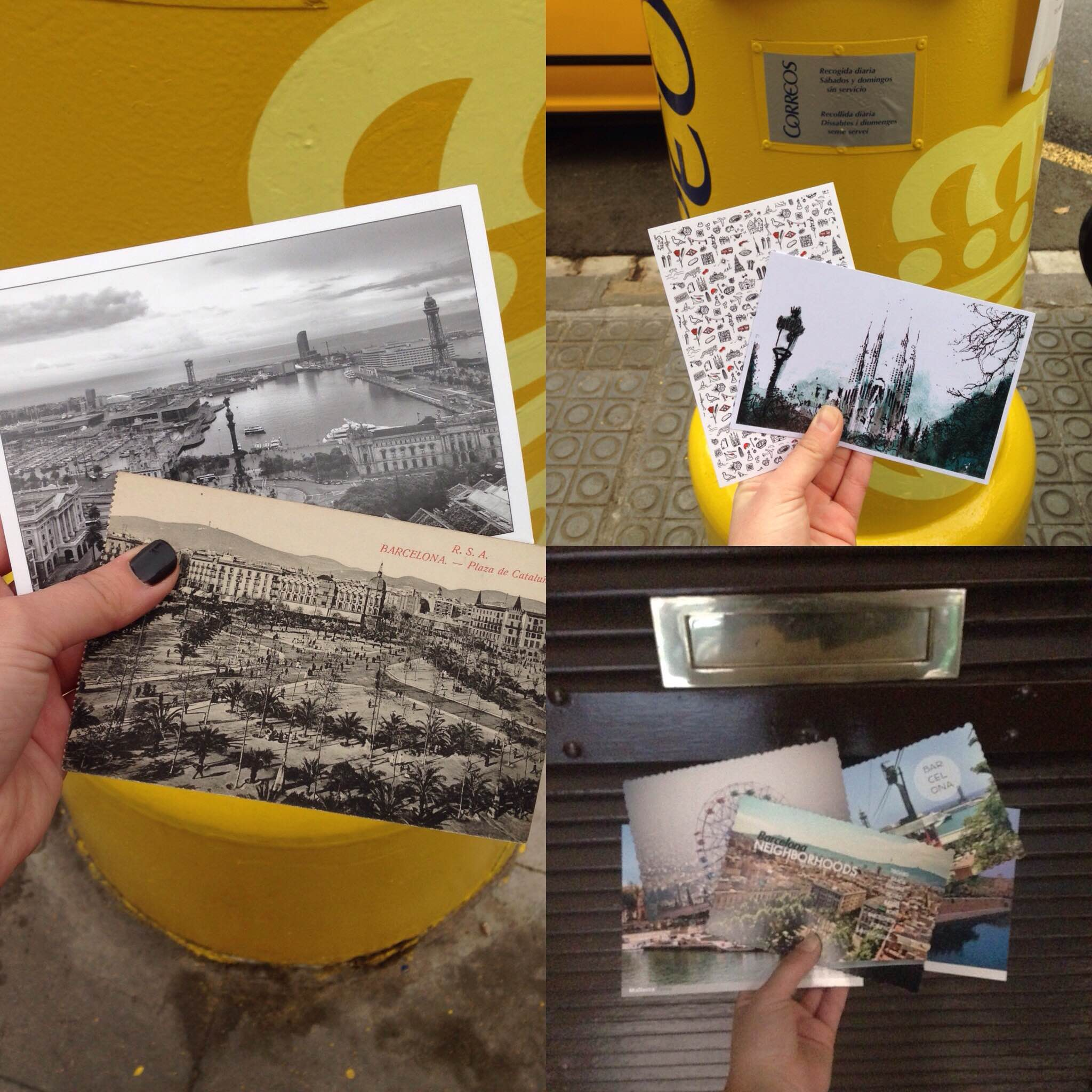 A year abroad in Barcelona I sent many many postcards!