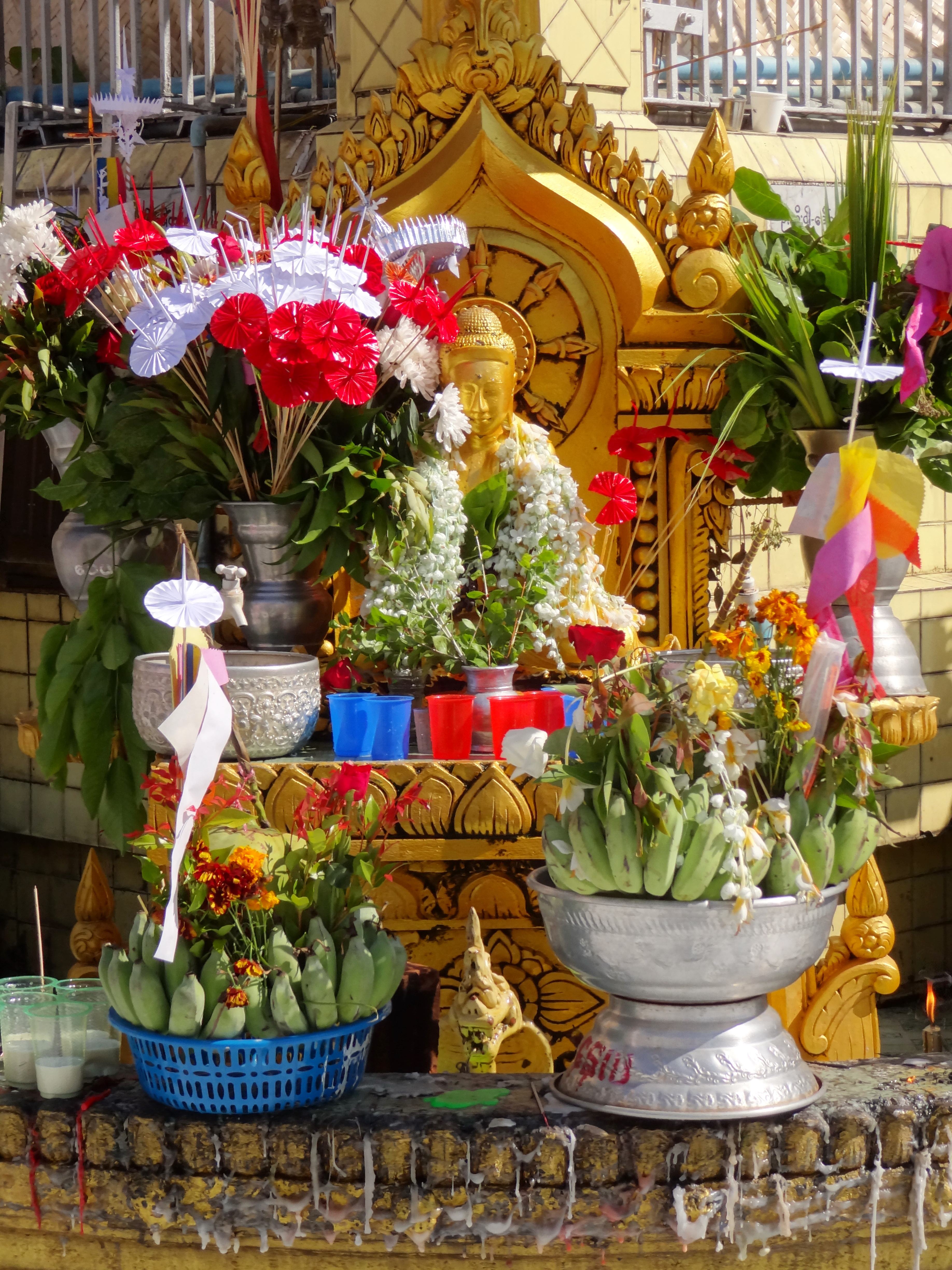teaching English at a Montessori in Myanmar - Temple Offerings